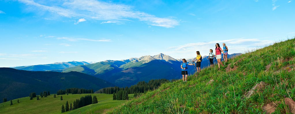 Women Hiking in Vail, CO